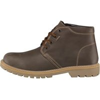 Onfire Mens Cleat Soled Leather Boots Basil Brown