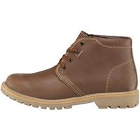 Onfire Mens Cleat Soled Leather Boots Kork Beige