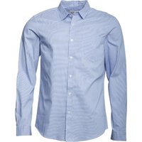 Onfire Mens Long Sleeve Houndstooth Check Shirt Blue