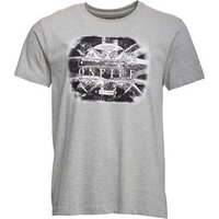 Onfire Mens Eagle/Flag T-Shirt Grey Marl