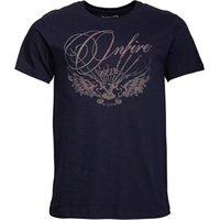 Onfire Mens Eagle Print T-Shirt Indigo