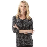 Onfire Womens AOP Viscose Long Sleeve Top Black/Multi