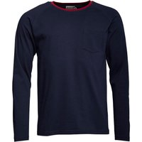 Onfire Mens Long Sleeve Ribbed Grandad Neck Top Navy