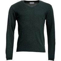 Onfire Mens V-Neck Lambswool Mix Sweater Forest Green