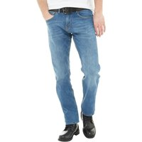 Onfire Mens Rinse Wash Straight Fit Stretch Jeans With Belt Blue Wash