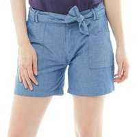 Onfire Womens Chambray Shorts With Tie Waist Blue