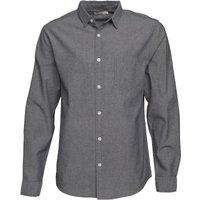 Onfire Mens Oxford Long Sleeve Shirt Blue/Grey