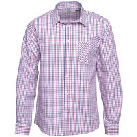 Onfire Mens Checked Long Sleeve Shirt With Dobby Blue/Pink/White