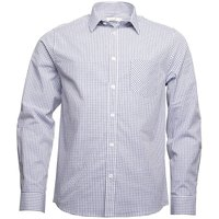 Onfire Mens Checked Long Sleeve Shirt White/Navy