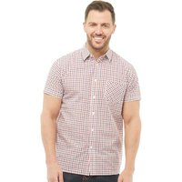 Onfire Mens Checked Short Sleeve Shirt White/Red/Navy