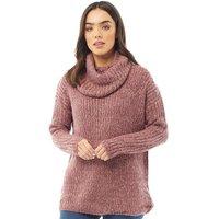 Onfire Womens Cowl Neck Sweater Pink Twist
