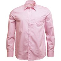 Onfire Mens Striped Long Sleeve Shirt White/Pink
