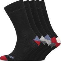 Onfire Mens Five Pack Socks Black/Red/Blue/Grey