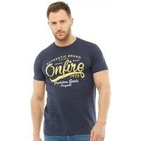 Onfire Mens Authentic Print T-Shirt Navy