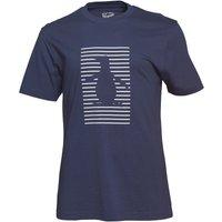 Original Penguin Mens Shadow Stripe Pete Graphic T-Shirt Black Iris