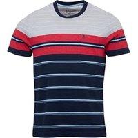Original Penguin Mens French Stripe T-Shirt Dress Blues