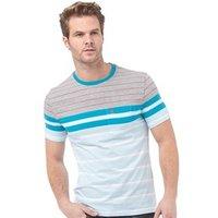 Original Penguin Mens French Stripe T-Shirt Cool Blue