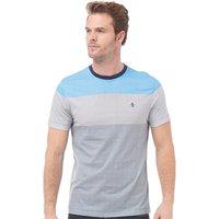 Original Penguin Mens Colour Block Stripe T-Shirt Diva Blue