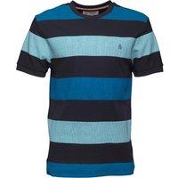 Original Penguin Mens Birdseye Colour Block T-Shirt Dark Sapphire