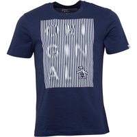 Original Penguin Mens Original Displaced Stripes T-Shirt Dress Blue