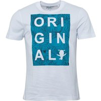 Original Penguin Mens Original Cut Out Parrot Print T-Shirt Bright White