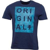Original Penguin Mens Original Cut Out Parrot Print T-Shirt Dress Blue