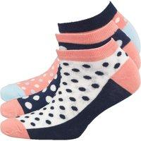 Original Penguin Womens Three Pack Trainer Liner Socks Navy Spot