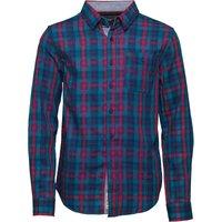 Original Penguin Boys Brushed Cotton Herringbone Check Shirt Blue Depths