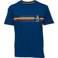 Original Penguin Junior Boys Stripe Slub T-Shirt Dusky Blue
