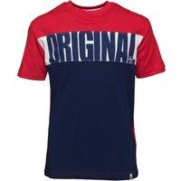 Original Penguin Boys Stripe Print T-Shirt Blue Depths