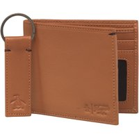 Original Penguin Mens Leather Wallet And Keyring Set Brown