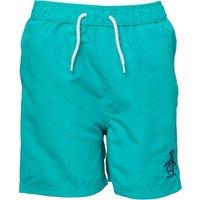 Original Penguin Boys Plain Swim Shorts Bright Aqua