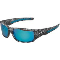O'Neill Zepol Blue Tinted Text Patterned Sunglasses Black/White