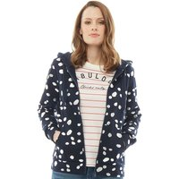 Only You Womens Sunny Patterned Zip Through Hoody Night Sky/Silver Foil Dots