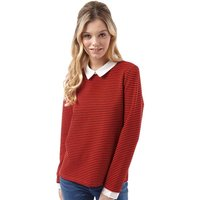 Only Womens Martha Long Sleeve Top High Risk Red