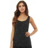 Only Womens Nova Patterned Sleeveless Top Black/Graphic Party