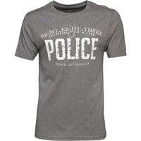 883 Police Mens Ginsberg T-Shirt Grey Marl