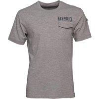 883 Police Mens Jersey Crespa Pocket T-Shirt Grey Marl