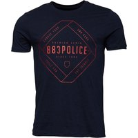 883 Police Mens Airen Graphic T-Shirt Navy