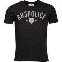 883 Police Mens Gizor T-Shirt Jet Black