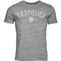 883 Police Mens Gizor T-Shirt Marl Grey