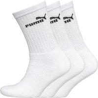 Puma Mens Three Pack Crew Socks White
