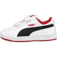 Puma Infant Smash Velcro Leather Trainers White