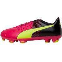 Puma Junior evoPOWER 3.3 FG Football Boots Glow/Safety Yellow