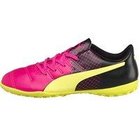 Puma Junior evoPOWER 4.3 Tricks TT Astro Football Boots Pink Glow/Safety Yellow