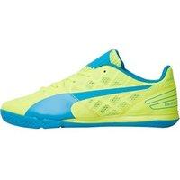 Puma Junior evoSPEED 3.4 Sala Football Boots Safety Yellow/Atomic Blue/White
