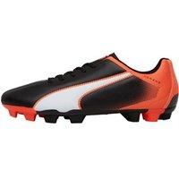 Puma Mens Adreno FG Football Boots Black/White/Lava