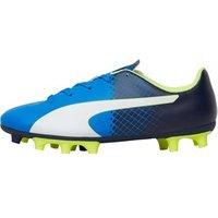 Puma Junior evoSPEED 5.5 FG Football Boots Electric Blue Lemonade/Peacoat