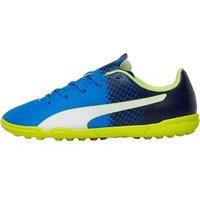 Puma Junior evoSPEED 5.5 TT Astro Football Boots Electric Blue Lemonade/Peacoat