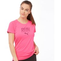 Puma Womens Graphic DryCELL Running Top Pink Glow